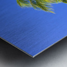 Palm Tree Against Clear Blue Sky Metal print