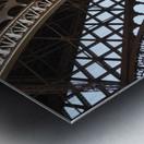 eiffel structure Metal print