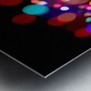 The Blur Of Coloured Lights; Edmonton, Alberta, Canada Metal print