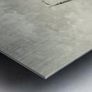 Vissersschepen in de branding Metal print