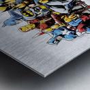 Marvel and DC Superheroes Lunch Atop A Skyscraper Featuring Captain America, Iron Man, Batman, Wolverine, Deadpool, Hulk, Flash & Superman Metal print