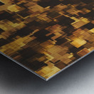geometric square pattern abstract in brown and black Metal print