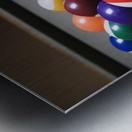 Pool Balls On A Billiard Table With The Eight Ball Facing Upwards Metal print