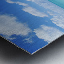 Northwestern Hawaiian Islands, Midway Atoll, Sand Island, Turquoise Ocean And White Sand Beach. Metal print