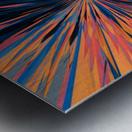psychedelic splash painting abstract pattern in orange brown pink blue Metal print