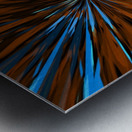 psychedelic splash painting abstract pattern in brown and blue Metal print