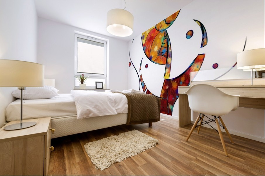 Espanessua - imaginery spiral flower Mural print