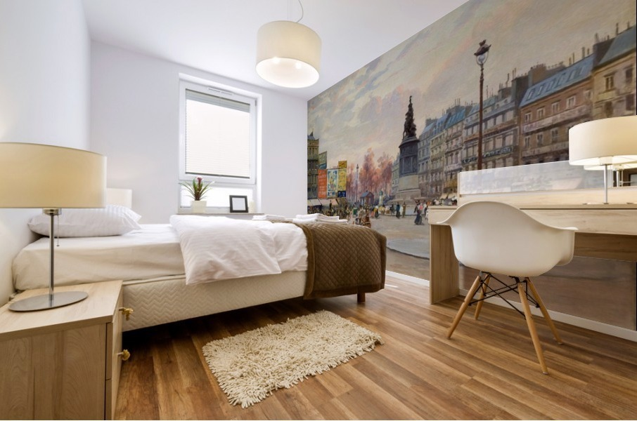 Place of Clichy Mural print