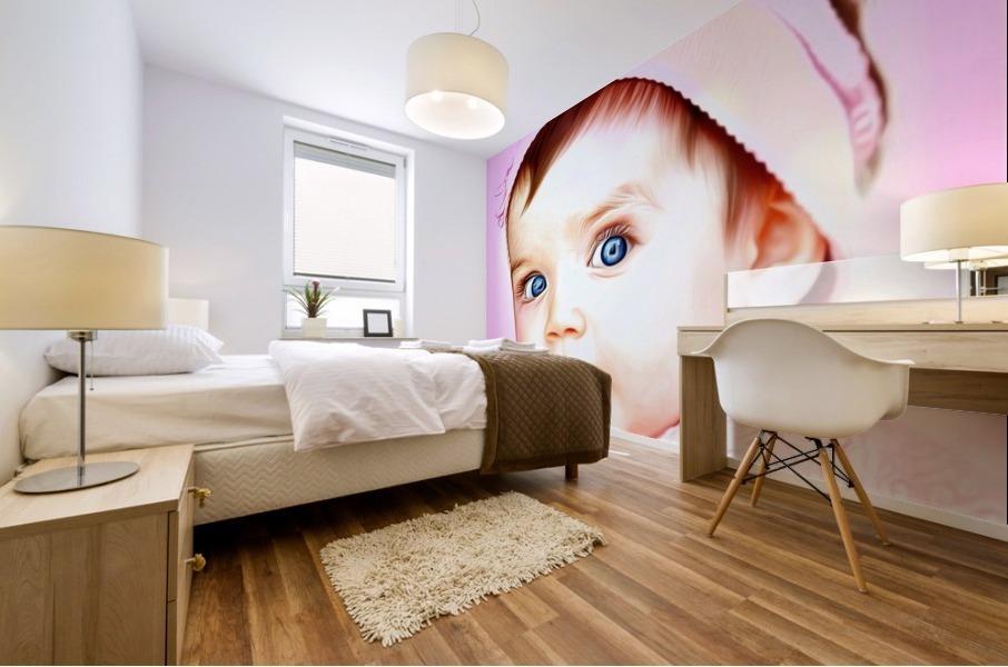 Cute Baby Pic Art Mural print