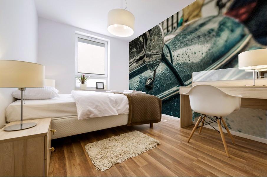 London Rain Mural print
