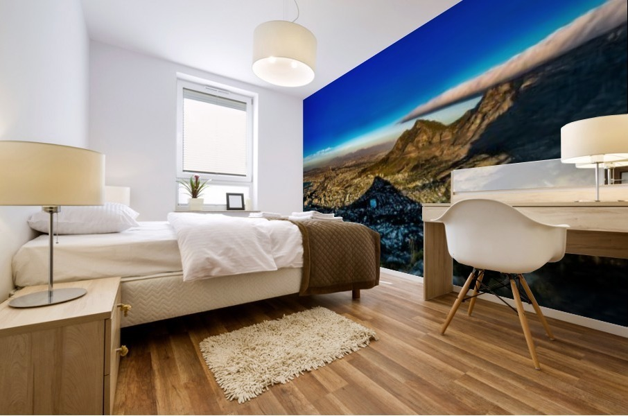 Cape Town's Table Mountain Mural print