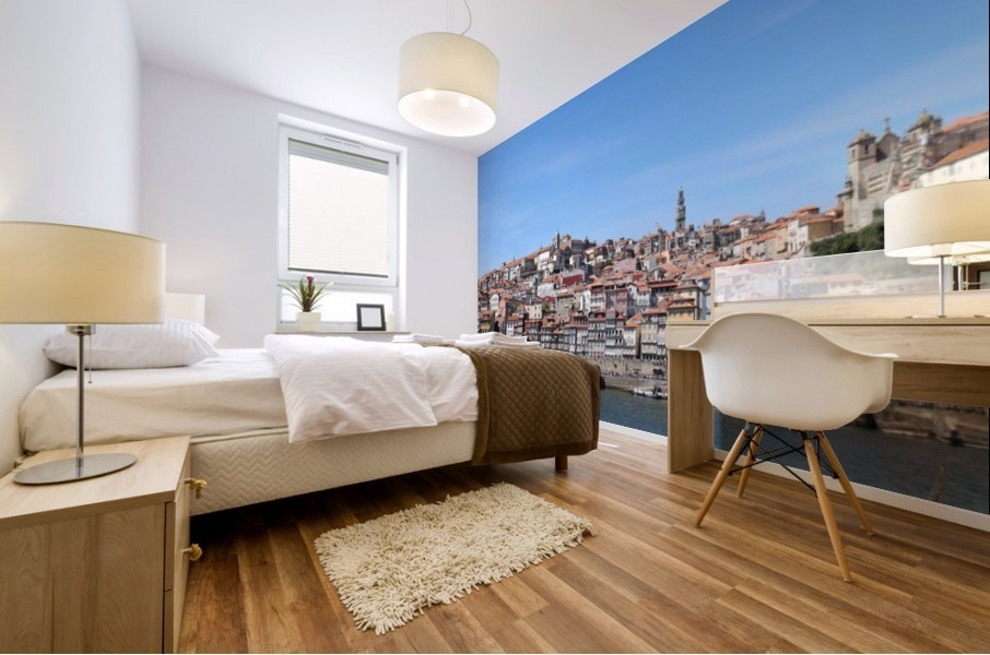 Oporto City at Douro River Mural print