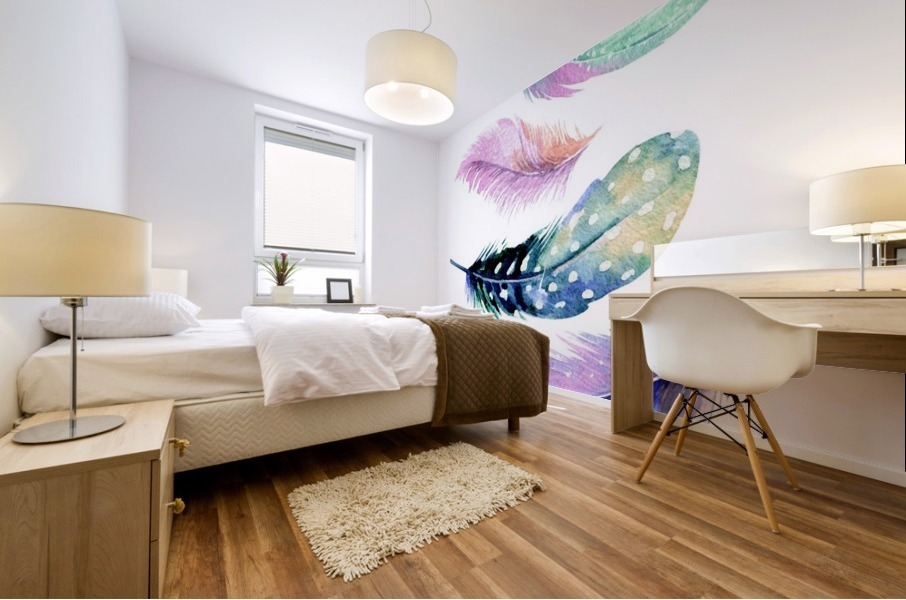 feather Mural print