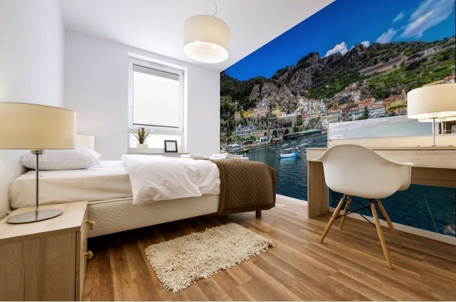 Amalfi Coast Panoramic View Mural print