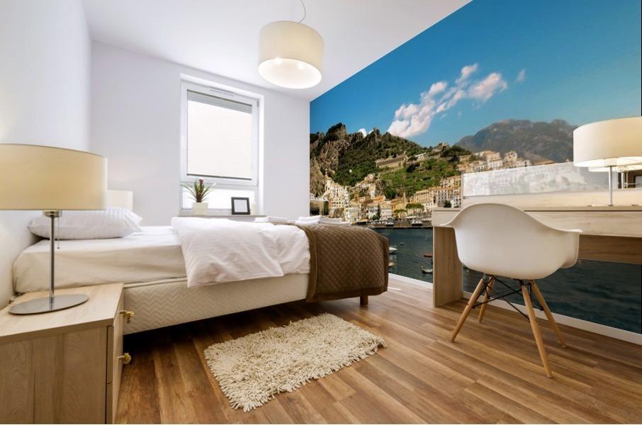 Amalfi Town - Panoramic View - Italy Mural print