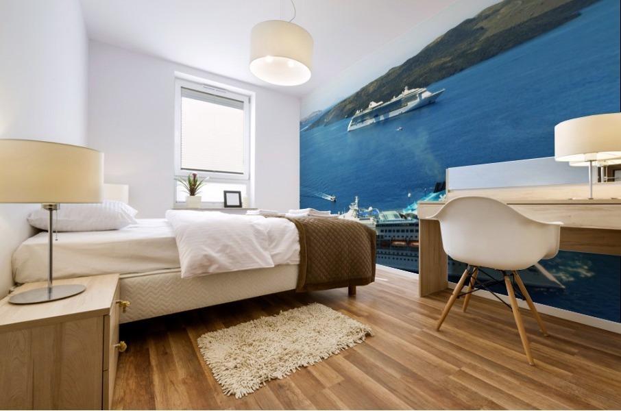 The Cruise Ship in the Blue Ocean Mural print