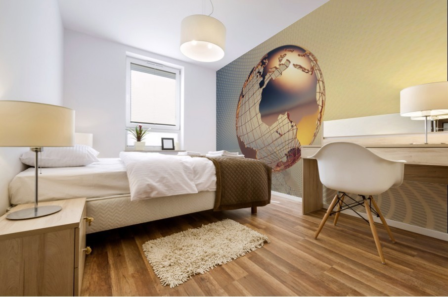 World global business background Mural print
