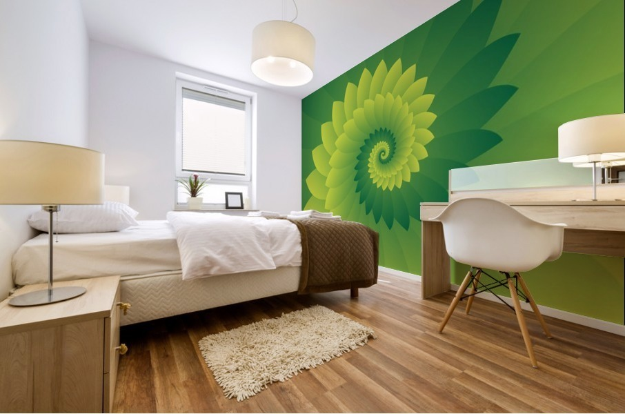 Shiny Greeny Art Mural print
