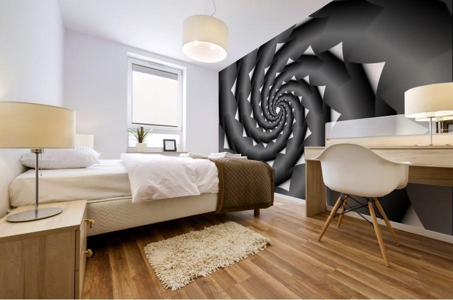 3d Abstract Spiral Design Mural print
