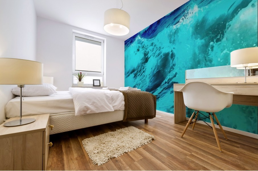 Abstract Wave VII Mural print