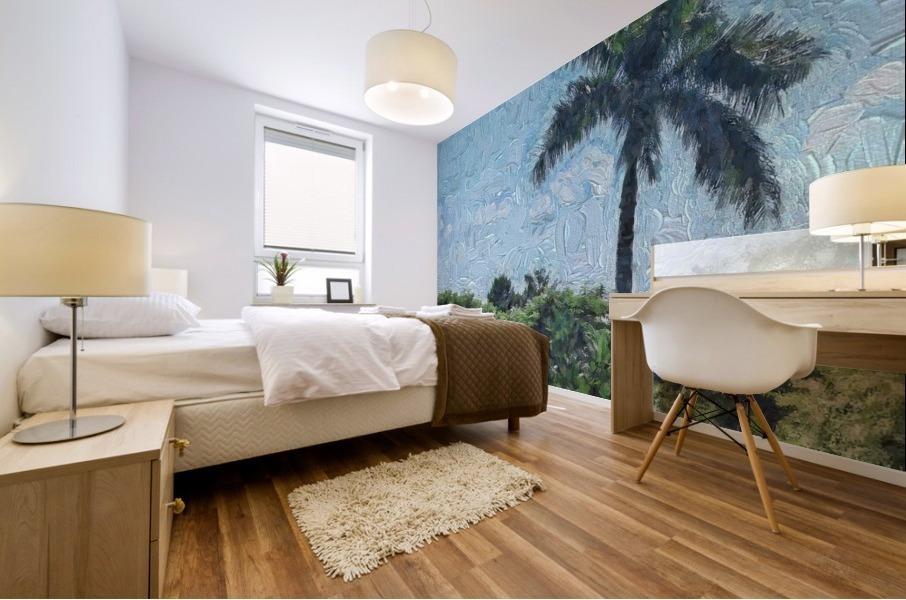 A Monet style Palm Mural print