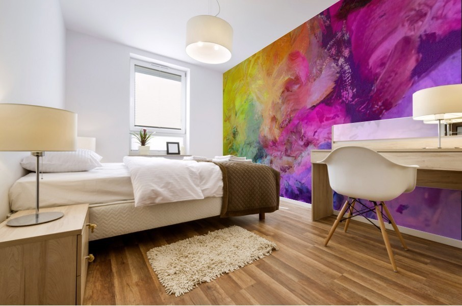Bright Colorful Abstract Painting Mural print