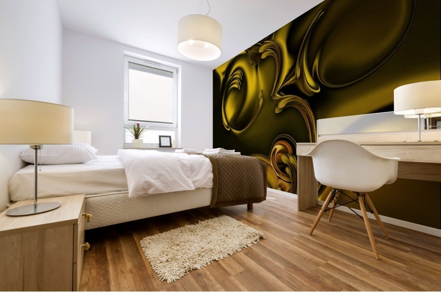 Abstraction With Meditation Mural print