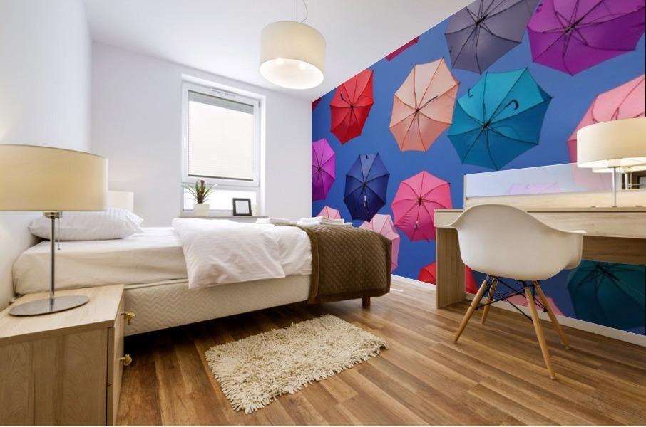 Colorful umbrella Mural print