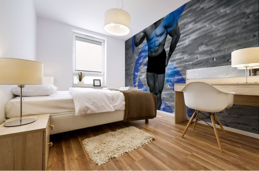 Cobble-Stone Physique with EAS DNA swirl  Mural print