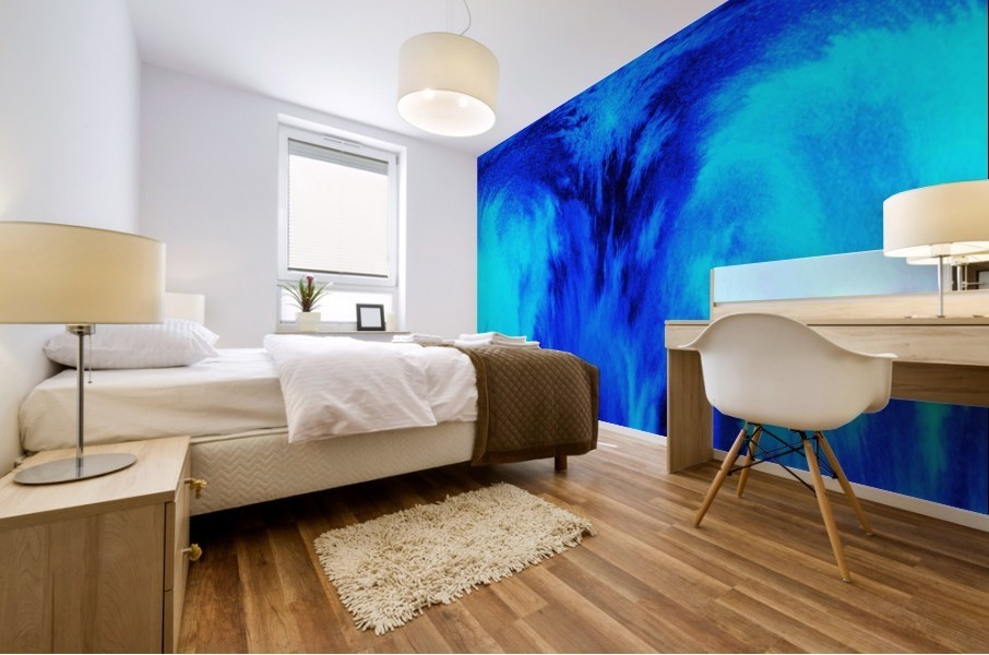 Abstract blue Mural print