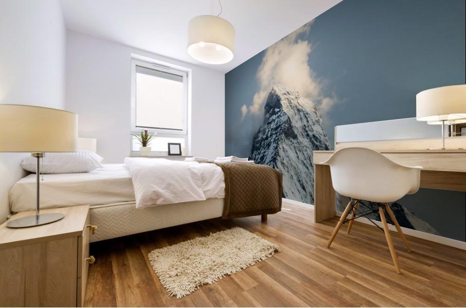 Matterhorn Glow Blue Mural print