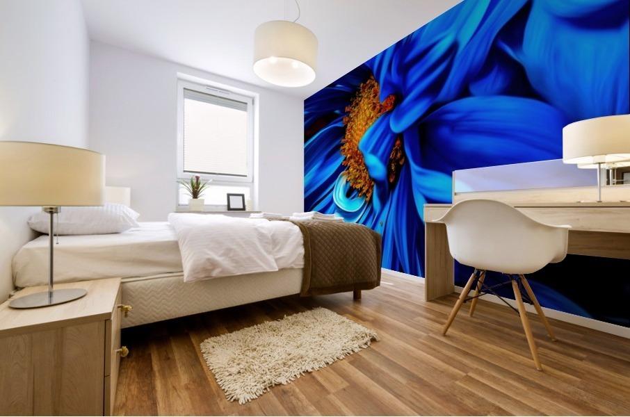Beautiful Blue Flower_OSG Mural print