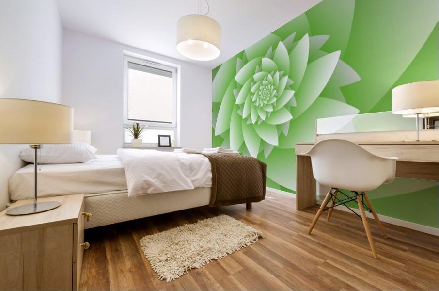 Greeny Floral Mural print