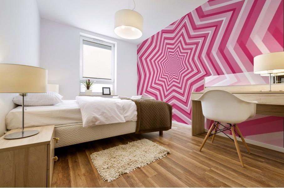 Pink Geometric Design Art Mural print