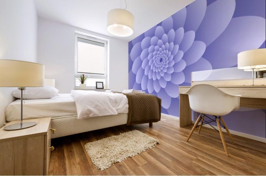 3D Modern Purple  Floral Art Mural print