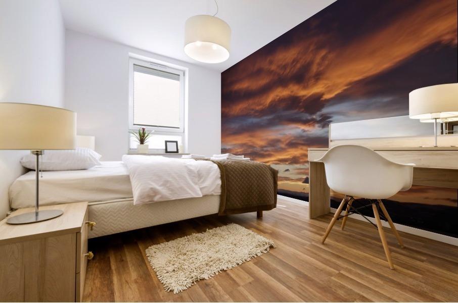 Icelandic Sunrise Mural print