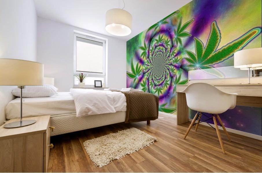 Marijuana Leaf Mural print