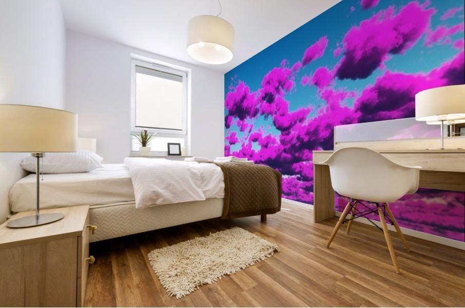 Vivid Purple Cloudscape Mural print