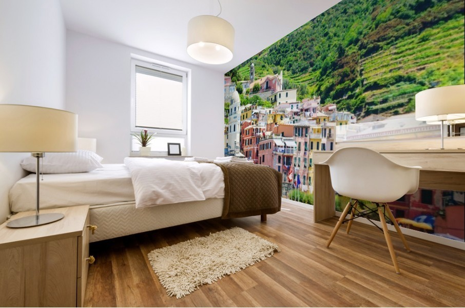 Colorful village of Cinque Terre Mural print