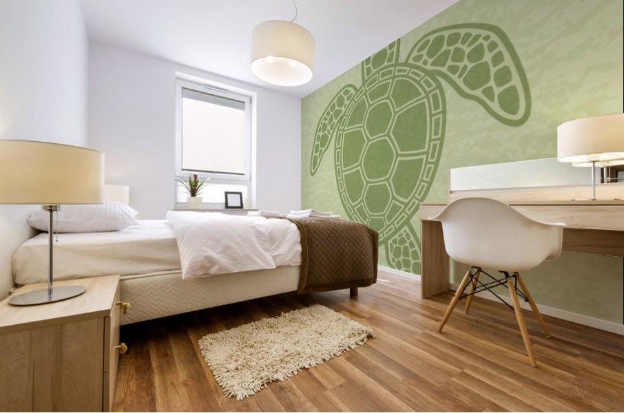 Green Sea Turtle Mural print