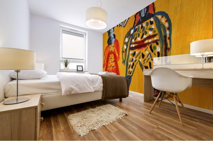 Klimt inspiration. Clyde O. Mural print
