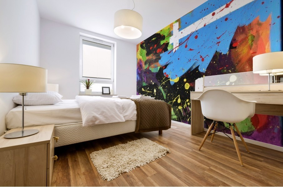 Bright Abstract. Walker W. Mural print