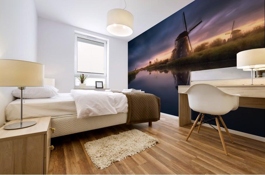 Kinderdijk Windmills Mural print