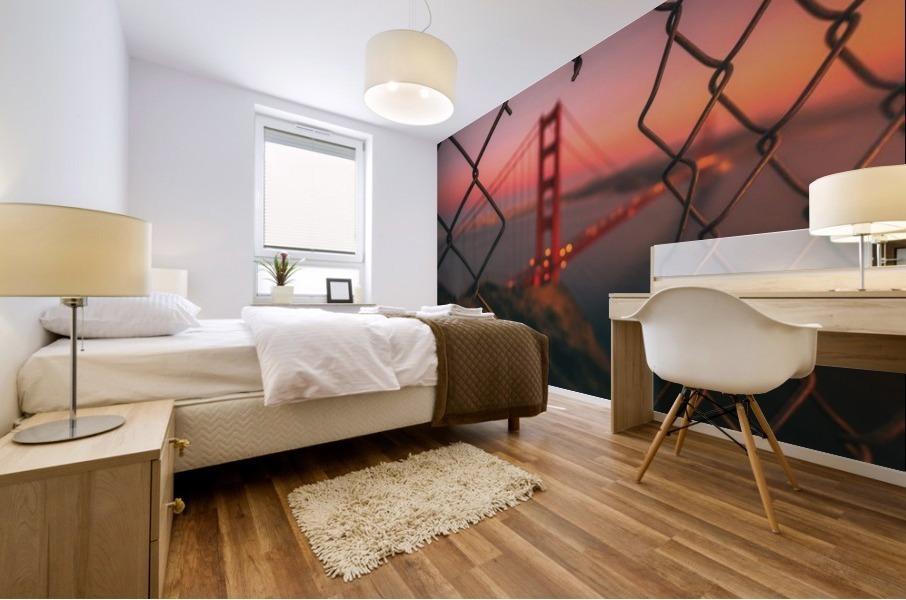 Golden Gate Caged Impression murale