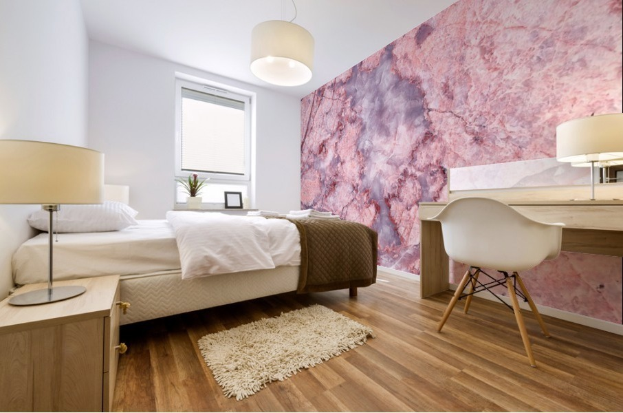 Pink Marble Mural print