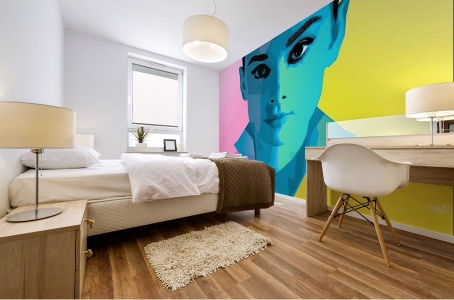 Pop Art Audrey Portrait Mural print