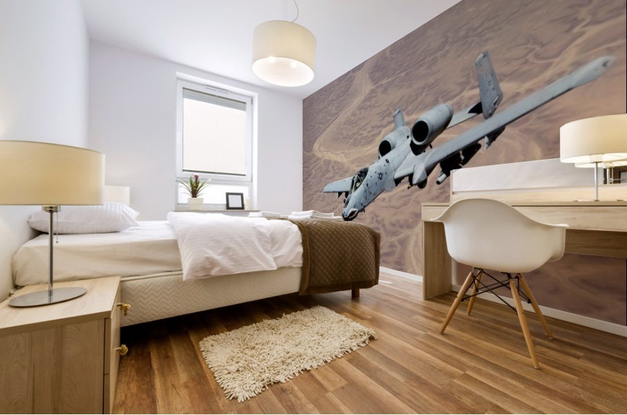 An A-10 Thunderbolt soars above the skies of Iraq. Mural print
