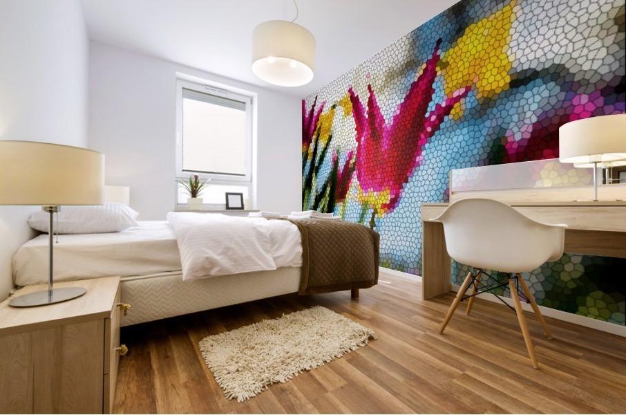 Tulip Mosaic Mural print