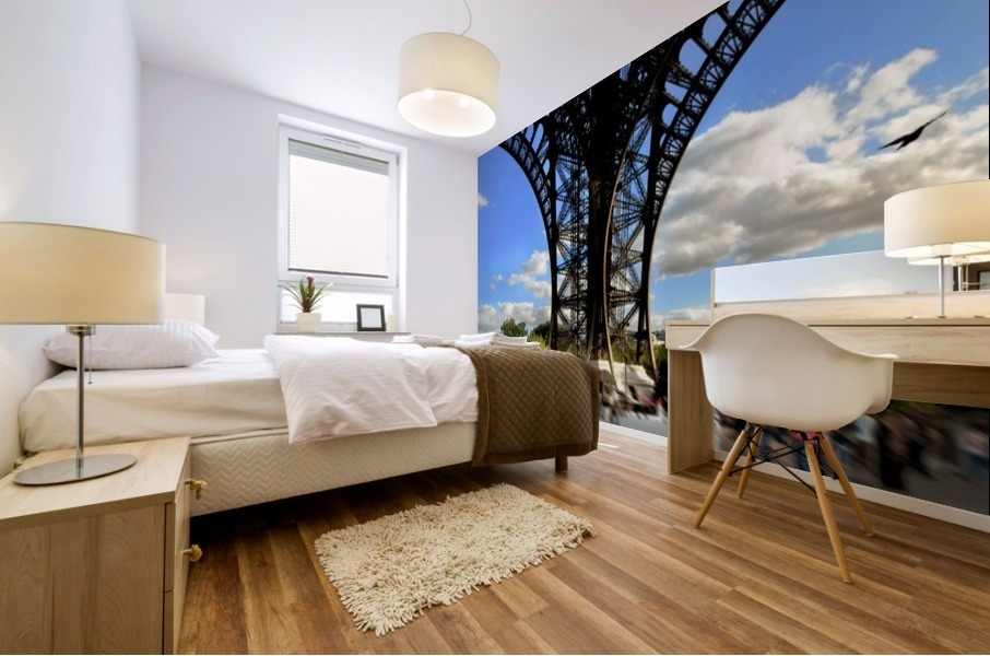 Life under the Eiffel Tower Mural print