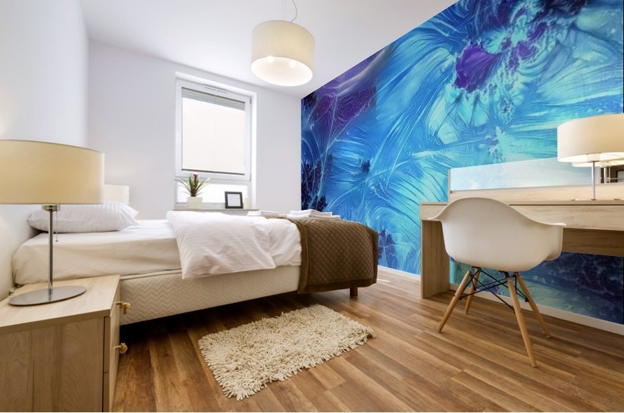 Abstract Blue Colors Mural print